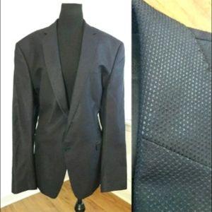 Versace Collection Blue Wool Blend 2 Button Jacket